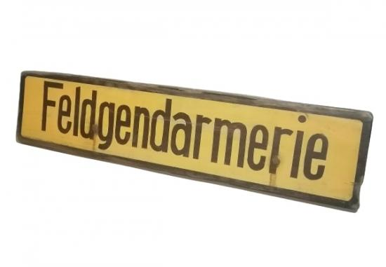 Traffic-Sign 'Feldgendarmerie'
