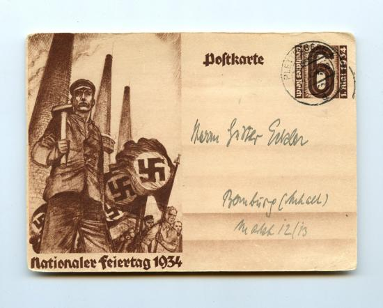 Postcard 'Nationaler Feiertag 1934'